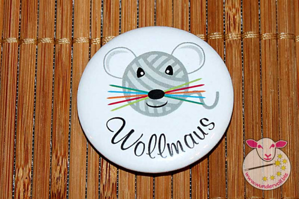 Wollmaus Button-Anstecker