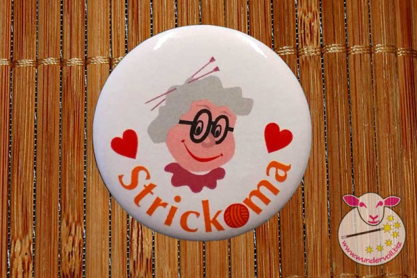 Strickoma Button - Anstecker
