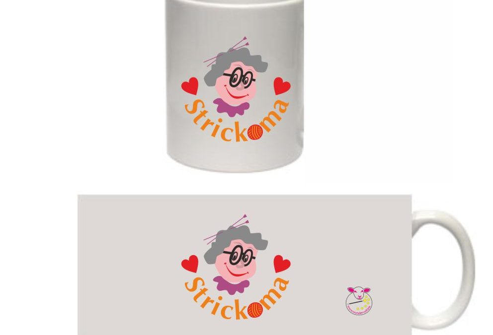 Neue Tasse mit Strickoma-Motiv – Die Strickoma-Tasse ist da.
