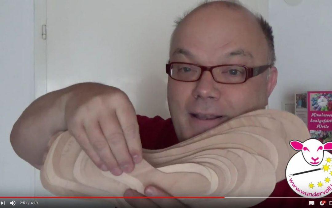 Neues Video – Mit Sockenbretter Sockengröße ganz einfach prüfen